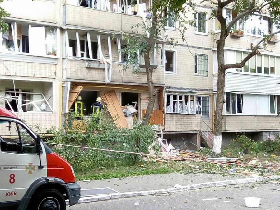Вжилом доме Голосеевского района столицы Украины произошел взрыв, идет эвакуация граждан