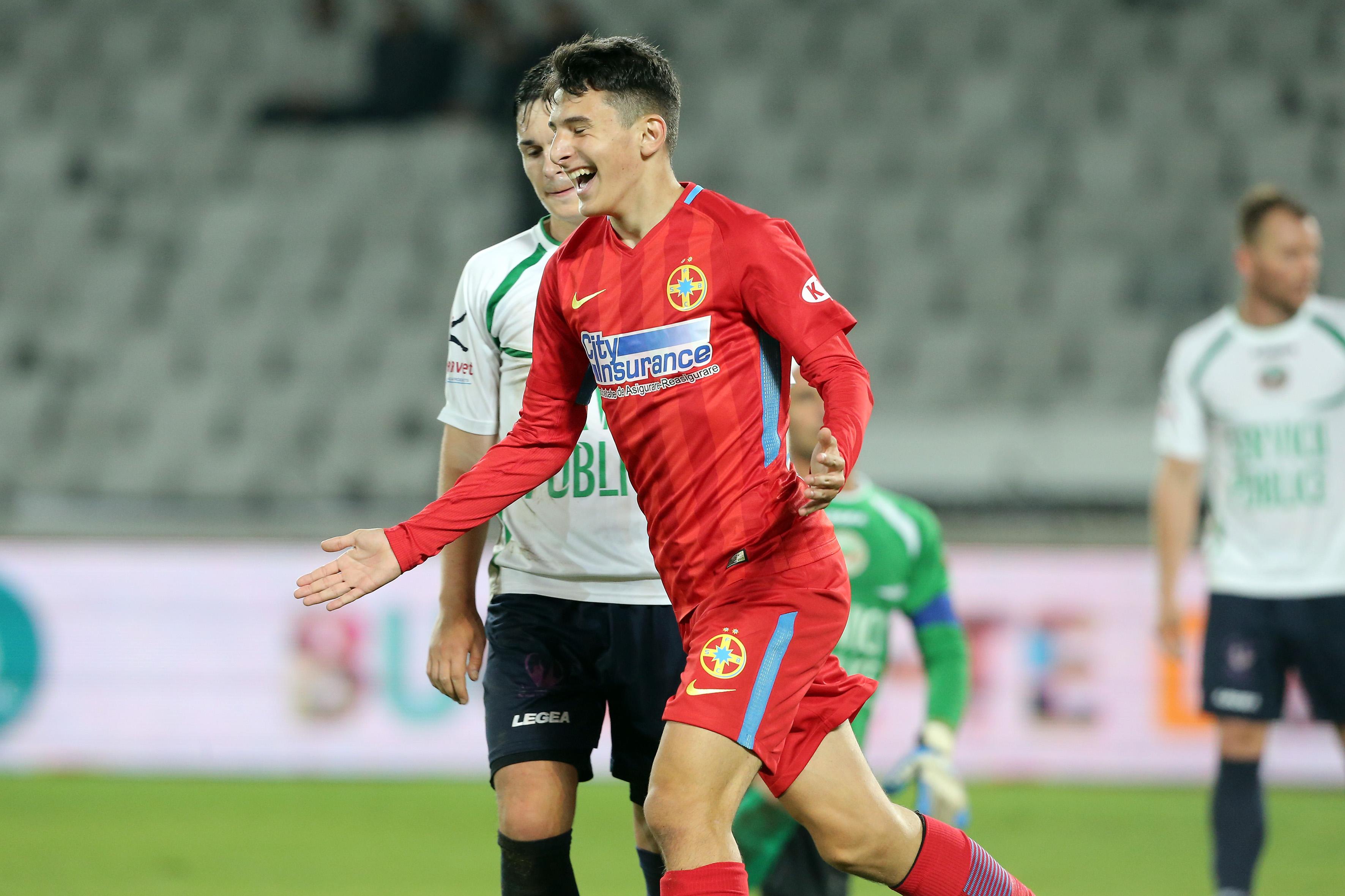 14-летний щегол дебютировал за«Стяуа» и здесьже забил гол