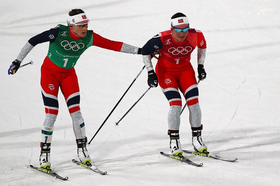 Норвежская лыжница обошла короля биатлона поколичеству олимпийских наград