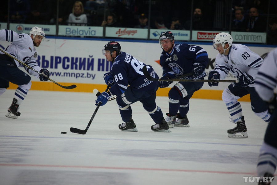 Сегодня состоится матч между минским и столичным «Динамо»— КХЛ