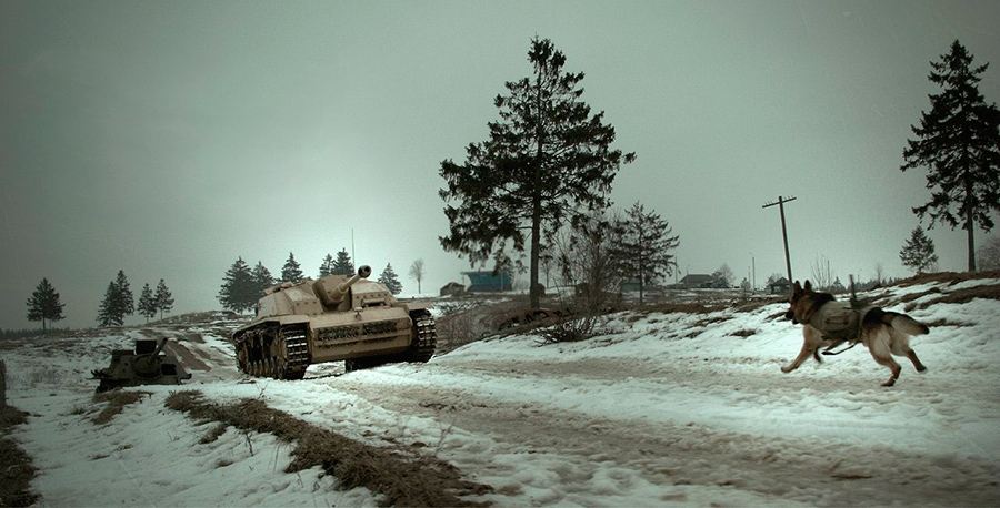 Волгоградцы первыми увидели фильм «Пес рыжий» особаках— истребителях танков ФОТО