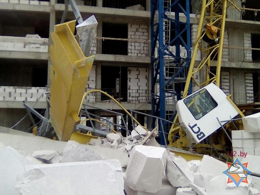 Госпромнадзор назвал предварительную причину падения крана вМинске
