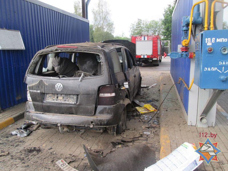 Взрыв назаправке вБарановичах: пострадавший вреанимации