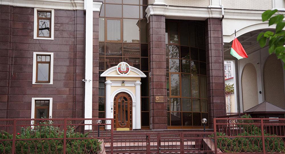 Посольство Республики Беларусь вКиеве протестует из-за акции сфайерами