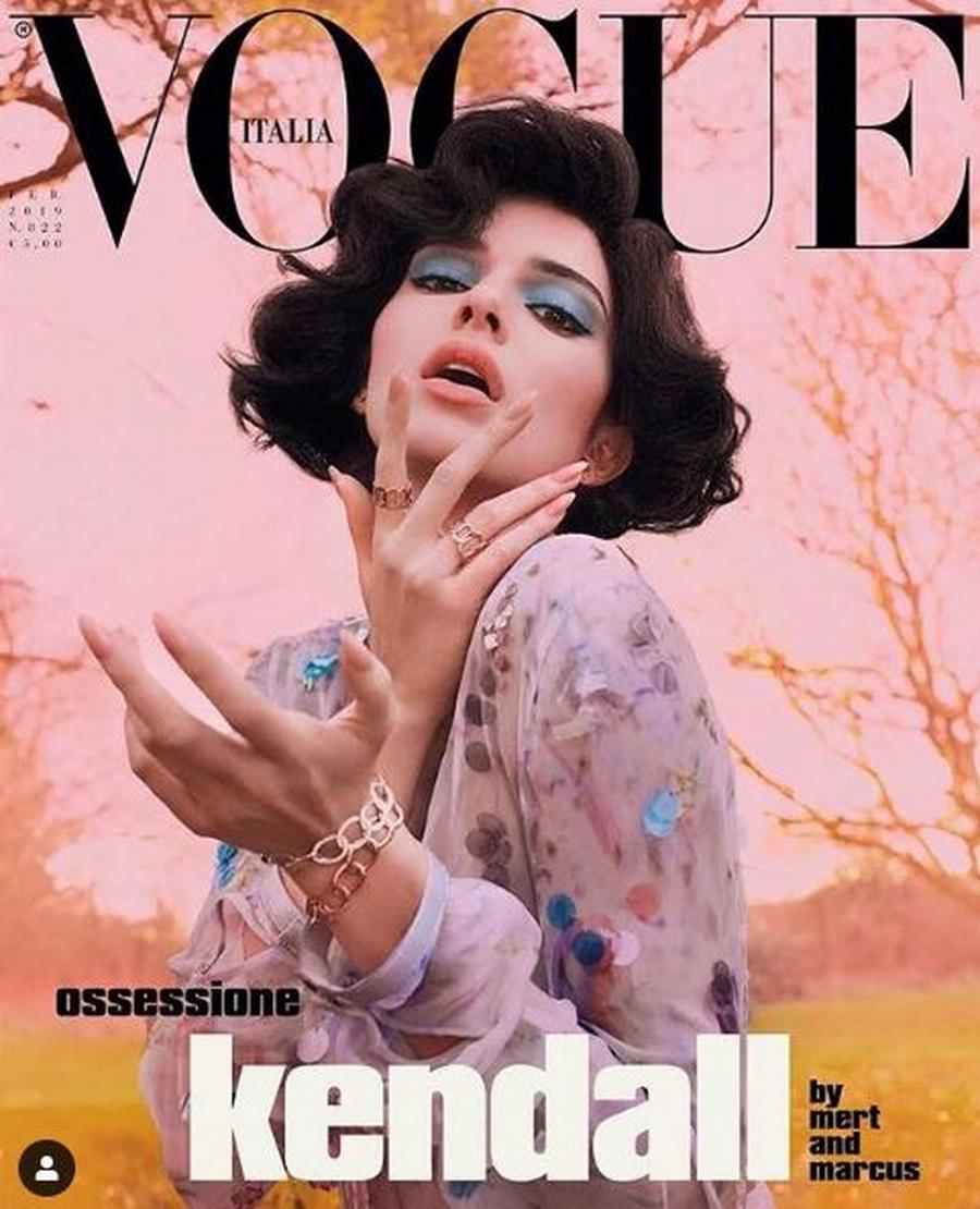 Кендалл Дженнер снялась для обложки итальянской версии Vogue