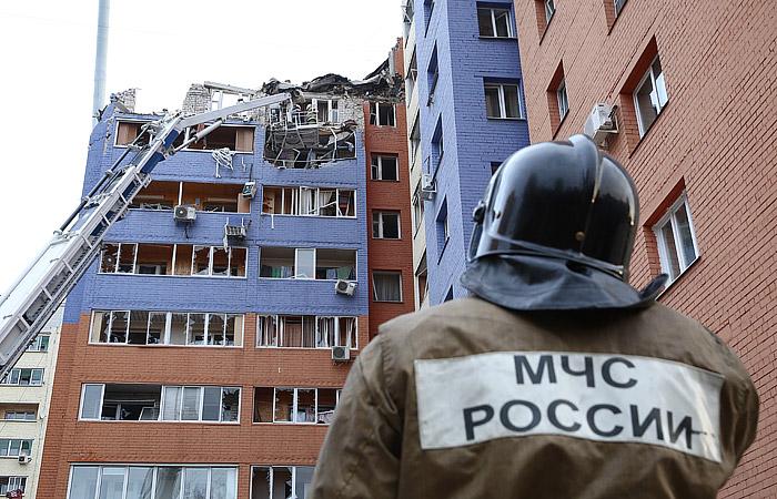 ВРязани в высотном многоэтажном здании произошёл взрыв бытового газа
