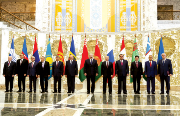 Heads of state gather for CIS Heads of State Council, EurAsEC Inter-state Council and Supreme Eurasian Economic Council