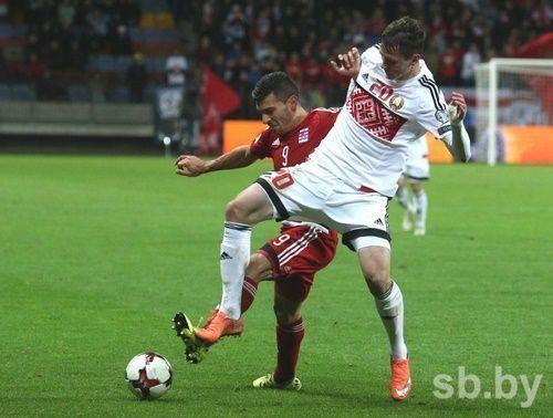 Беларусь сыграла вничью сЛюксембургом вотборочном матче чемпионата мира 2018 года