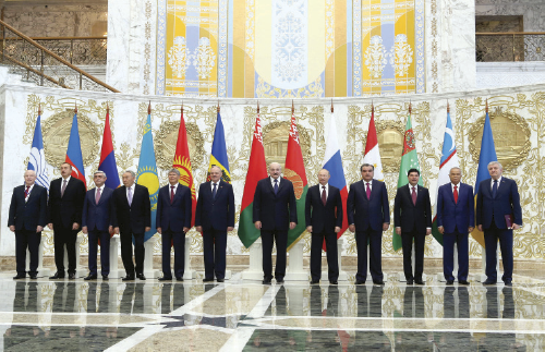 The heads of the states — participants of the summit in Minsk