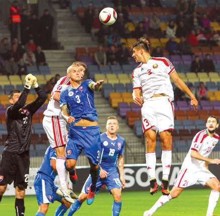 Belarus' national football team fails to offer worthy resistance to Slovaks in EURO-2016 qualifying round