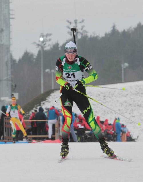 Belarusian Darya Blashko won the sprint race at the Junior World Championship in biathlon
