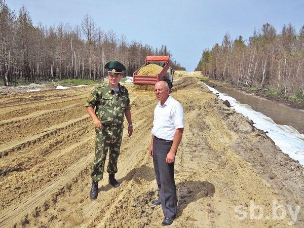 В Столинском районе идет строительство очередного оборудованного участка границы