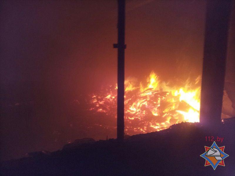 Барановичские cотрудники экстренных служб устранили пожар назаводе автоматических линий