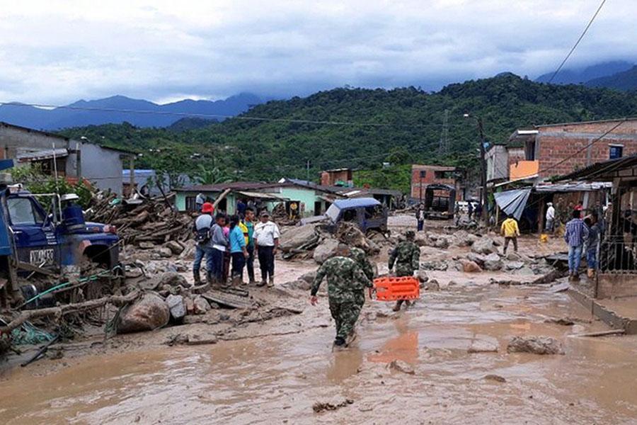 ВКолумбии в итоге схода оползня погибли сотни человек