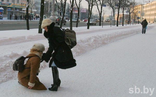 Поповоду гололедных травм кминским докторам засутки обратились 78 человек