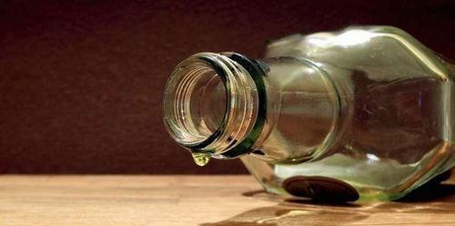 пустая бутылка водки