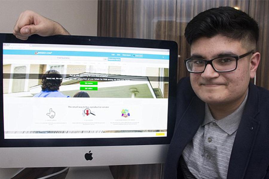 Британский школьник отказался торговать собственный неповторимый сайт за5 млн фунтов