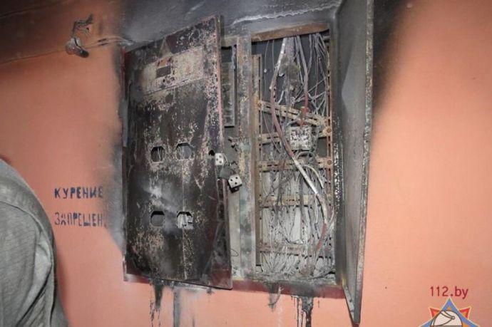 40 квартир вМинске после пожара сутки оставались без электричества