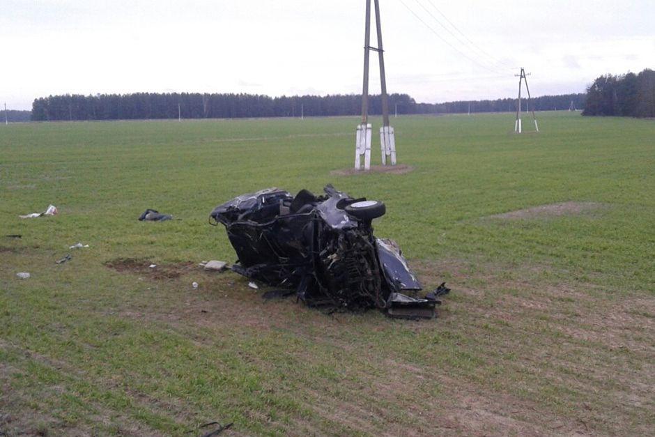 20-летний шофёр на Ауди съехал вкювет, опрокинулся и умер