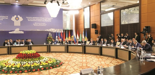 At the CIS Heads of Government Council session
