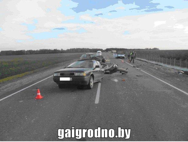 ДТП слобовым столкновением вВолковысском районе