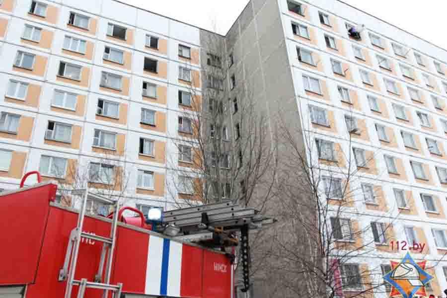 Пожар водном изобщежитии Минска. Эвакуировано 280 человек