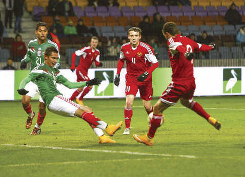 Belarusian footballers end season with defeat of Mexico — 3:2