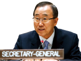 The UN Secretary-General Ban ki-Moon