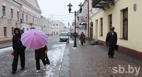 Дожди имокрый снег пройдут вРеспублике Беларусь ввыходные