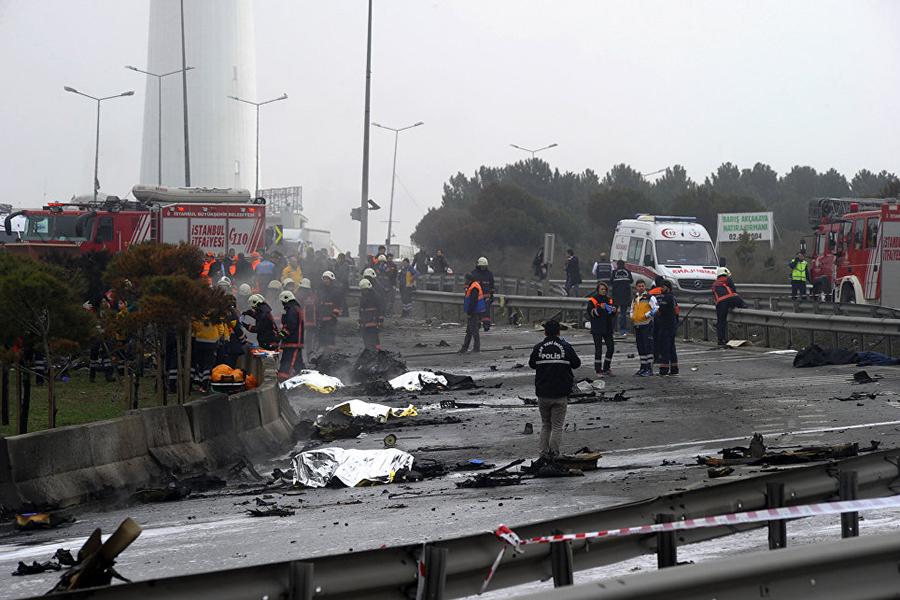Наупавшем вТурции вертолете были четверо граждан России