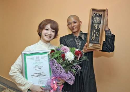 Обладатели Гран-при фестиваля Аяка Хабата и Котара Ито из Токио.