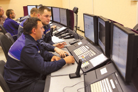 Operators control technological process