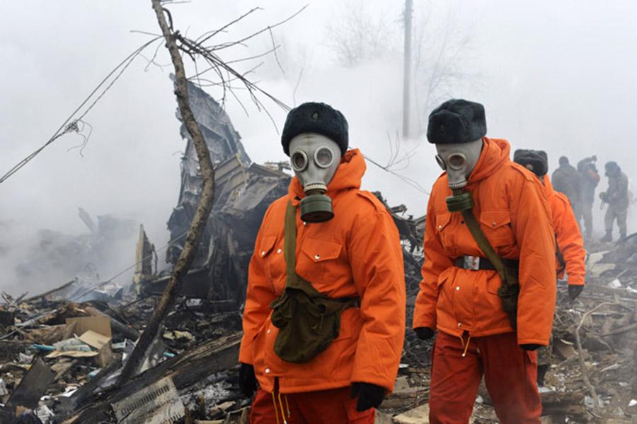 Поисковые работы возобновились наместе падения Boeing под Бишкеком