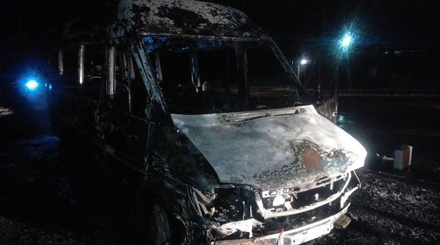 МЧС: Маршрутный Mercedes навсе 100% выгорел вБресте