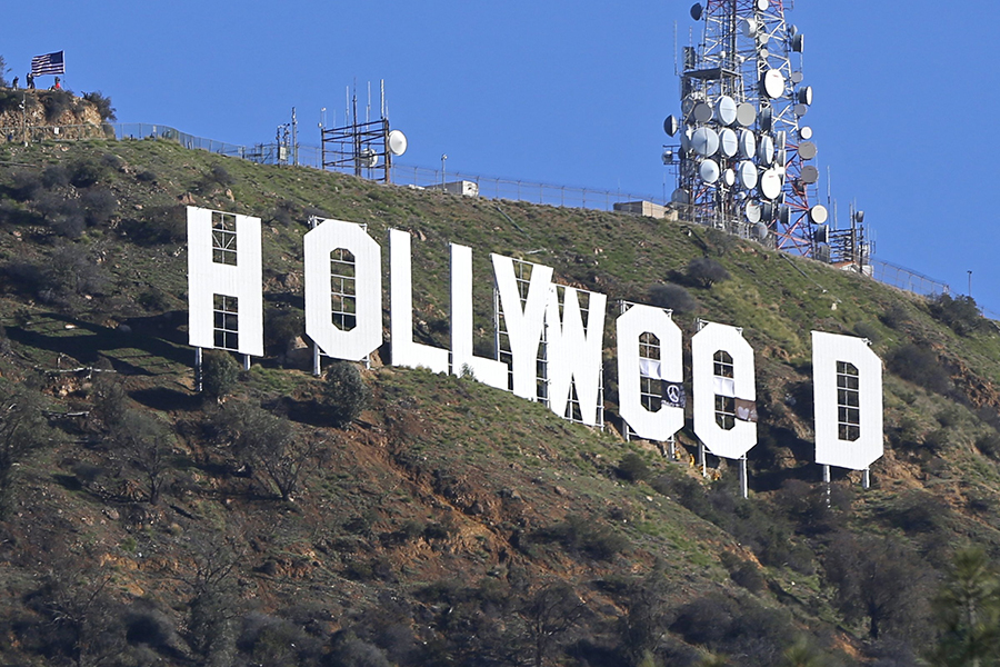 Вандалом, поменявшим надпись Hollywood наHollyweed, оказался художник