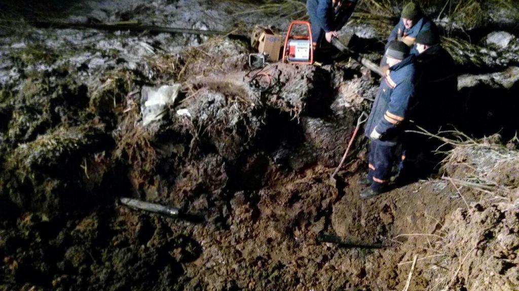 Газопровод повредили вВоложинском районе впроцессе земляных работ