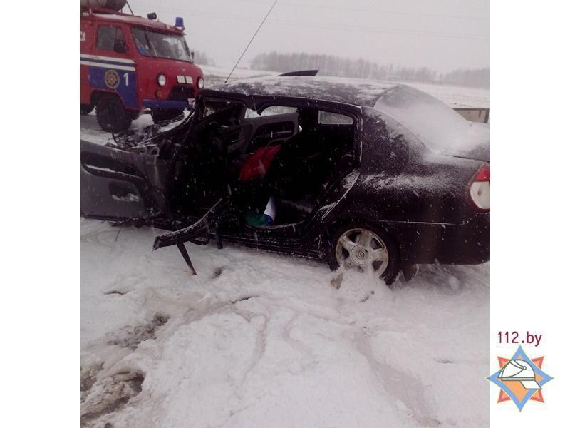 Влобовом столкновении вПоставском районе пострадали две женщины