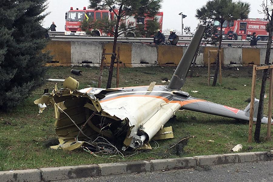 ВСтамбуле разбился вертолет сроссиянами наборту