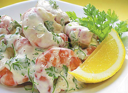 Салат с креветками рецепт с фото простой