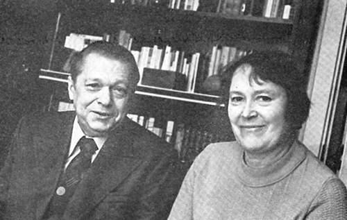 Пімен ПАНЧАНКА з жонкай Зояй Кірылаўнай, 1981 г.