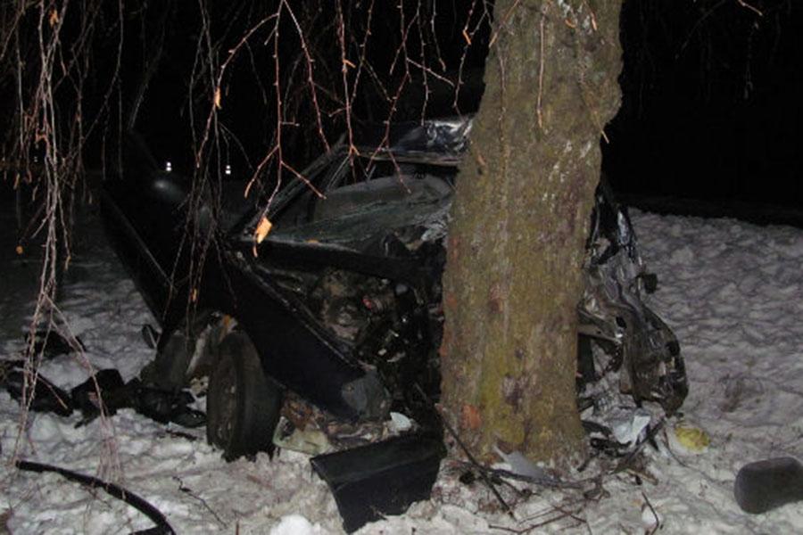ВОршанском районе несовершеннолетний шофёр врезался вдерево, умер пассажир