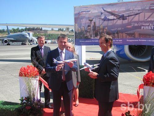 1-ый брендированный самолет «Белавиа» в новейшей ливрее приземлился в государственном аэропорту Минск