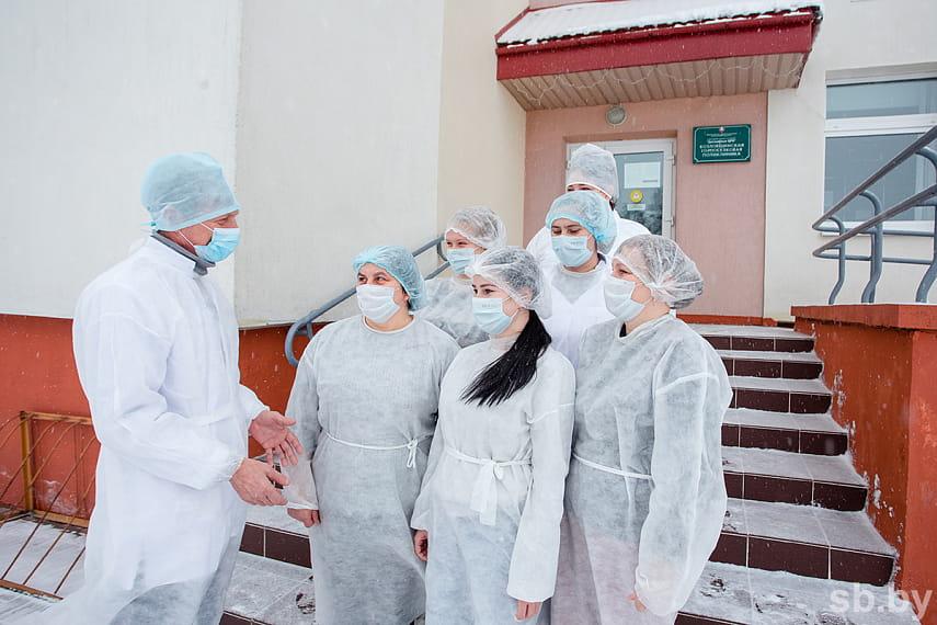 Коллектив Козловщинской городской больницы.