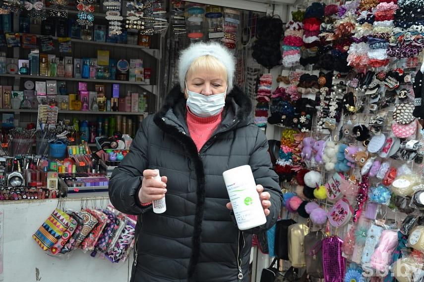 Предприниматели, торгующие на рынке в Бресте, встречают коронавирус во всеоружии