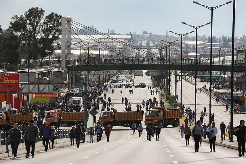 Руководство  Эквадора покинуло столицу из-за протестов