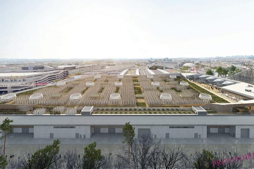 В Париже появился самый большой в мире огород на крыше.