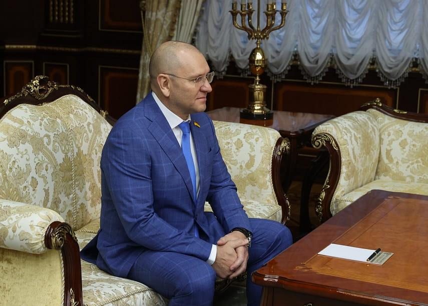Лукашенко встретился с народным депутатом Верховной рады Украины Евгением Шевченко