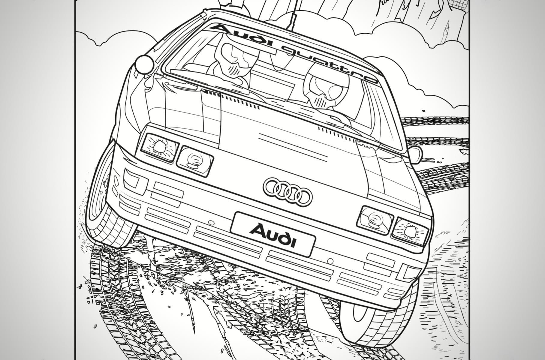 Audi и Mercedes выпустили раскраски для сидящих на карантине